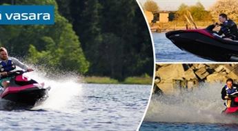 """Brauciens ar ūdens motociklu """"SEA DOO"""" Sekļa ezerā vai Engures vai Apšuciema piekrastē, sākot tikai no € 14,4!"""