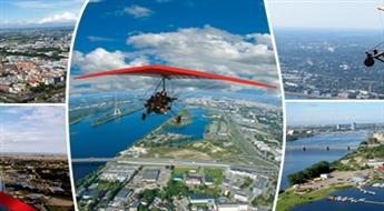 Aizraujošs lidojums virs Rīgas ar deltaplānu ar instruktoru + foto un video uzņemšana
