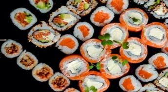 """Lielais suši sets (128 gab.) no """"SUSHI DELUXE"""" ar 25% atlaidi. NEMAKSĀ VISU UZREIZ!"""