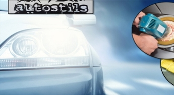 """Automašīnas priekšējo lukturu pulēšana salonā """"Auto Stils"""" Pārdaugavā ar 27% atlaidi. NEMAKSĀ VISU UZREIZ!"""