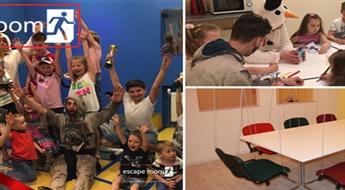 """Bērnu svētki """"ESCAPE ROOM"""": zāle svinībām, kvests """"Arkādes spēles"""" un konkursi bērniem"""