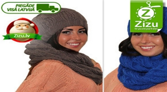 Satriecoši stilīgs komplekts – šalle un cepure – jūsu izvēlētajā krāsā tikai par Ls 15,9 (€ 22,62). Piegāde VISĀ LATVIJĀ!