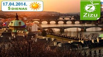 ROMANTISKĀ PRĀGA LIELDIENU BRĪVDIENĀS: pasakains 5 dienu ceļojums uz Prāgu ar iespēju apskatīt arī Karlovi Vari un Drēzdeni tikai par € 119 (Ls 83,63). Visas naktis viesnīcās un BRAUCIENS GARANTĒTS!