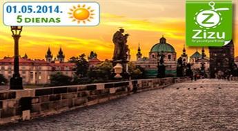 VIDUSLAIKU ČEHIJA MAIJA BRĪVDIENĀS: pasakains piecu dienu ceļojums uz Čehiju ar iespēju apskatīt Prāgu, Čehu Krumlovu un Drēzdeni tikai par € 119 (Ls 83,63). Visas naktis viesnīcās!