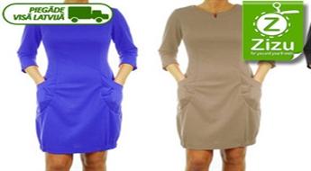 Elegantas kleitas ar kabatām ar jūsu izvēlēto pavasarīgo krāsu un izmēru tikai par € 18,8 (Ls 13,21). Piegāde VISĀ LATVIJĀ!