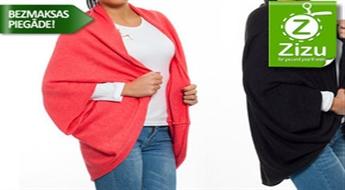 Ērta un stilīga jaka-pončo jūsu izvēlētajā krāsā tikai par € 16,9 (Ls 11,88). BEZMAKSAS PIEGĀDE ar Mana Pasta Stacija!