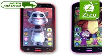 """Rotaļu planšetdators ar kaķi Tomu vai Mašu un Medved, kas """"runā"""" angļu un krievu valodās, tikai par € 9,6 (Ls 6,75). Piegāde VISĀ LATVIJĀ!"""