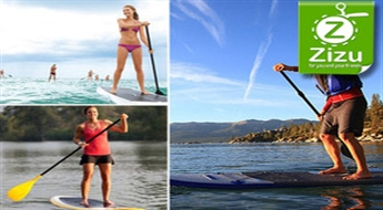Profesionāla instruktāža SUP sērfingā + inventāra noma un fotosesija uz ūdens ar atlaidi līdz 64%!