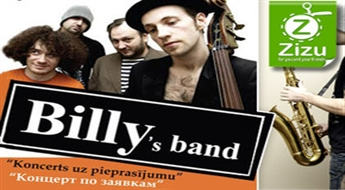"Biļetes uz grupas ""BILLY'S BAND"" koncertu ar 30% atlaidi!"