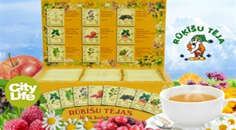 RŪĶĪŠU TĒJA: tēju komplekts vai Lielā tēju kolekcija līdz -50%