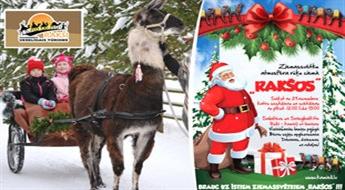 Ziemassvētku prieks Rakšos + izjāde ar kamieli