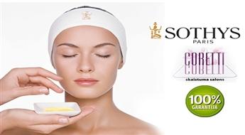 CORETTI: anti-age sejas procedūra ar profesionālo Sothys kosmētiku (30min vai 1h) līdz -68%