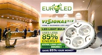Ietaupi līdz 85% elektroenerģijas! Jaunākās paaudzes ekonomiskās LED spuldzes no Euroled -70%