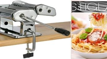 Gardiem spageti, lazanjai, tagliatelle, pelmeņiem: STIGLA pastas mašīna ar hroma pārklājumu -50%