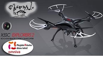 Quadrocopter SYMA X5SC 4CH ar kameru HD