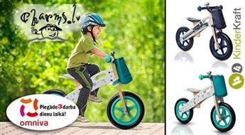 KinderKraft Runner (balance bike) Bērnu skrējritenis ar koka rāmi