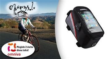 Ūdensdroša velo soma ar viedtālruņa nodalījumu kā arī GPS navigācijai