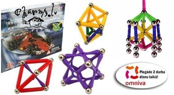 Magnētu konstruktors - attīstoša rotaļlieta bērniem un laika kavēklis vecākiem