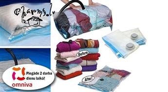 Hermētiskie vakuuma maisi kompaktai un drošai mantu glabāšanai (60 x 80 vai 110 x 80 cm)