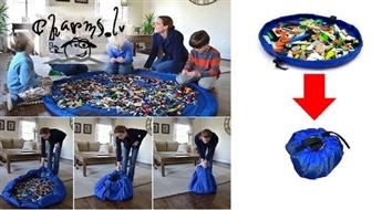 Paklājiņš-maiss bērnu spēlēm Toy storage bags!