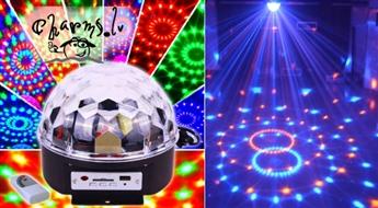 Gaismas diožu disko bumba-projektors ar pulti un USB flash atmiņu LED Crystal Magic Ball Light