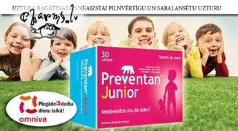FARMAX: Preventan Junior bērnu imūnsistēmai. 90 kapsulas 3 mēnešu kursam
