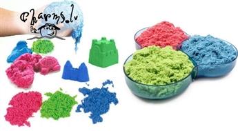 Kinētiskās smiltis attīstošām rotaļām un figūru veidošanai dažādās krāsās 1 kg