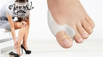Komplekts no 2 silikonu šinam korekcijai un sāpju mazināšanai kājas lielajam pirkstam