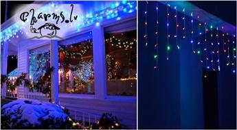 IZPĀRDOŠANA: LED gaismiņu virtene lāsteku formā (100 vai 200 lampiņas)