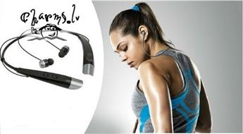 Bezvadu Bluetooth austiņas ideali piemēroti aktīviem cilvēkiem