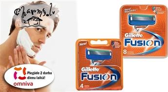 GILLETTE Fusion 8 vai 4 skūšanās asmeņu komplekti