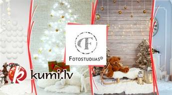 Fotosesija profesionālā studijā ar Ziemassvētku dekorācijām (30 min)