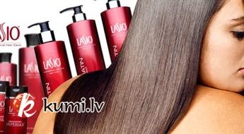 """Profesionālā matu bio-taisnošana ar keratīnu bez formaldehīda un kaitīgiem atvasinājumiem LASIO + matu ieveidošana. Nevainojami taisni un gludi mati! """"Eklektik"""""""