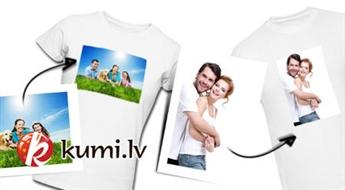 Merķeļa druka: T-krekls ar Tevis izvēlētas bildes apdruku