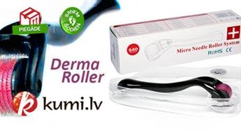 Masāžas mezorolleris DERMA ROLLER (540 adatiņas no 0.30 līdz 1.5 mm.) sejas un ķermeņa ādai - burvju nūjiņa ādas kopšanā