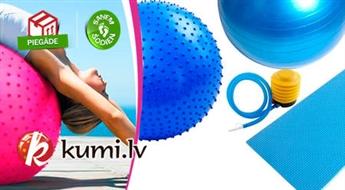 Vingrošanas bumbas (dažādi modeļi), fitnesa paklājs un citas sporta preces