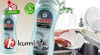 2 trauku mazgāšanas līdzekļu komplekts Dishwashing Liquid Platinum (2 x 1 l)