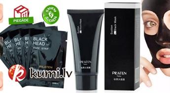"""Deguna poru dziļi attīroša minerālvielu maska """"PILATEN Black head"""" (60 gr). Rezultāts - maiga un gluda āda!"""