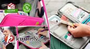 Ietilpīgs ceļojuma organaizeris dokumentiem vai svarīgiem papīriem