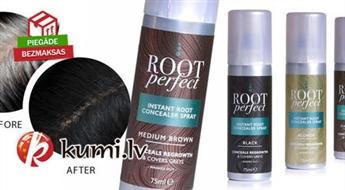 Matu korektors Root Perfect palīdzēs paslēpt sirmos matiņus un matu sakņu krāsu dažu sekunžu laikā