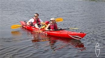 Brauciens pa Liepājas ezeru un kanālu