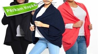 Ērtas brīva piegriezuma sieviešu jakas dažādās krāsās
