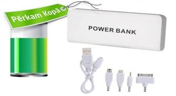 """Vienmēr pilna baterija! Jaudīgs """"Power Bank"""" ārējais akumulators dažādu ierīču uzlādei"""