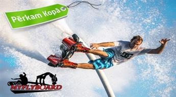 Aizraujošs lidojums virs ūdens ar Hoverboard, Flyboard vai Jetpack (10-20 min)