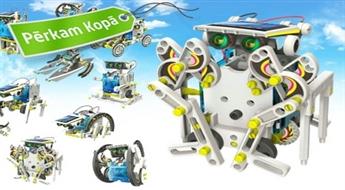 """Darbojas ar saules baterijām! Konstruktors """"Robots 14 vienā"""""""