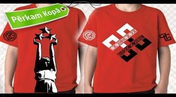 LATVIJAS DIZAINS: T-krekli ar latviskiem simboliem sievietēm, vīriešiem un bērniem