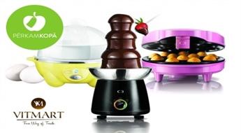 Preces virtuvei no Zviedrijas: olu vārītājs, šokolādes fondī strūklaka vai pončiku krāsniņa