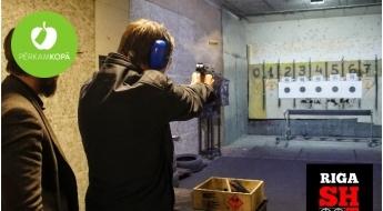 """Izmēģini jaunu pieredzi! Šaušana ar militārajiem kaujas ieročiem 1 vai 2 personām šautuvē """"RigaShoot"""""""