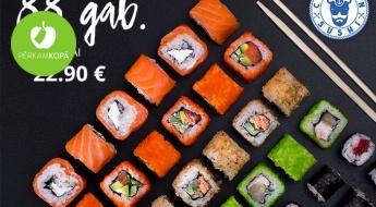 """Baudi japāņu tradicionālo ēdienu kopā ar draugiem! Suši komplekts """"Big Tasty"""" (88 gab.) no CAPTAIN SUSHI"""