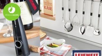 Kvalitatīvie LEIFHEIT virtuves piederumi: zupas kausi, pudeļu attaisāmie, olu putotāji u.c.